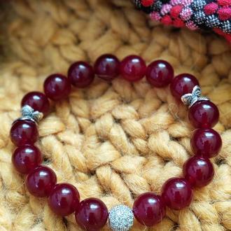 Браслет из натуральных камней, браслет из кварца, браслет на подарок, оберег