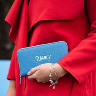 Женский кошелек-клатч в голубом цвете от мастерской Hidemont