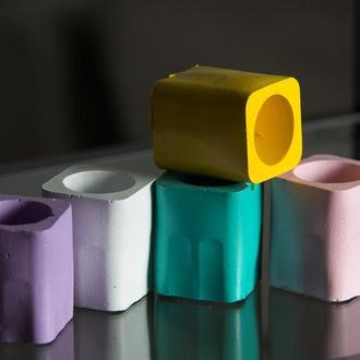 Набір бетонних стаканів-підставок (5 шт) / бетонные стаканчики