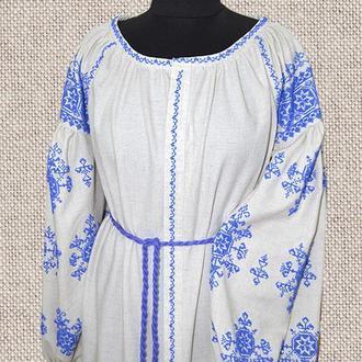 Платье на льне