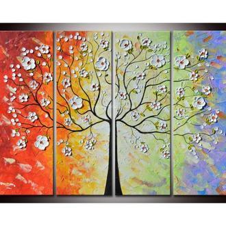 """Модульная картина """"Красочное дерево"""""""