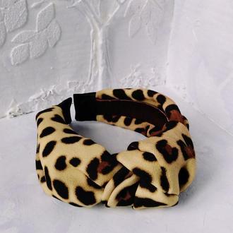 Леопардовая чалма-ободок