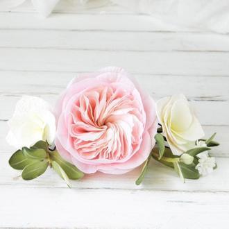 Набор шпилек с цветами в прическу невесте