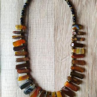 Ожерелье из натурального агата