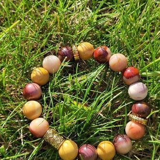 Браслет из натуральных камней, браслет из яшмы, браслет на подарок, оберег