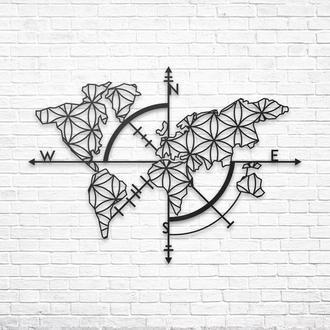 «Карта Мира»: панно из металла на стену