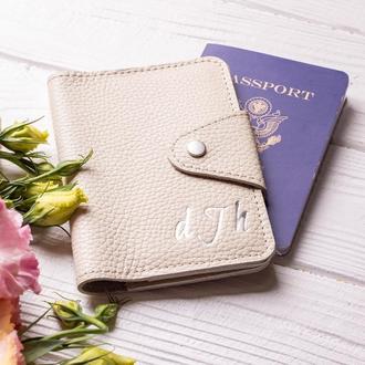 Кожаная обложка для паспорта «Ролланд» от мастерской Hidemont