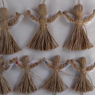 Handmade. рост 12 см. `Ангелочек` кукла-мотанка. Оберег и подарок в дом.