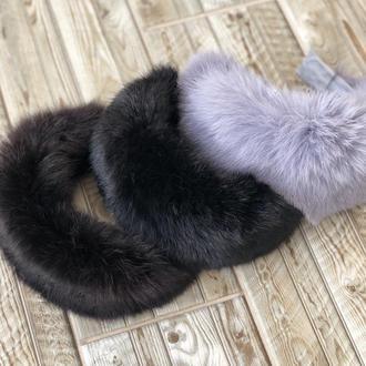 Стильный меховый обруч ободок для волос My Scarf