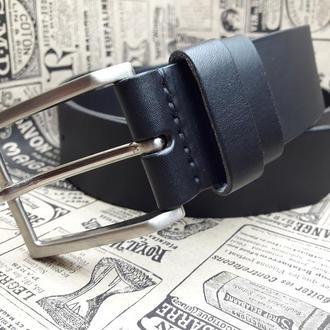 Черный кожаный ремень REM01-40mm