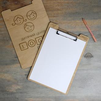 Планшетки деревянные с вашим лого