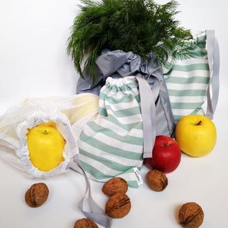 Экомешочки Киев, набор мешочков для продуктов Киев, екомішечки Киев, екоторбинки Киев
