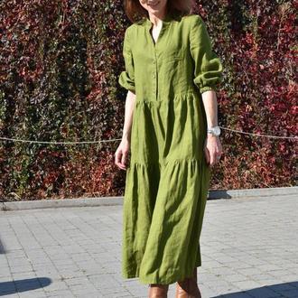 """Сукня кольору """"Гуакамоле"""" (вільний фасон)"""