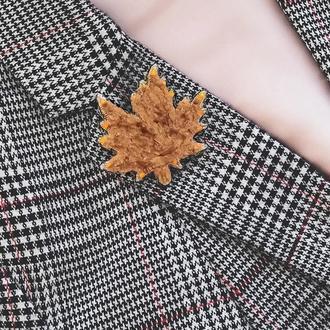 Брошка листок Брошь лист