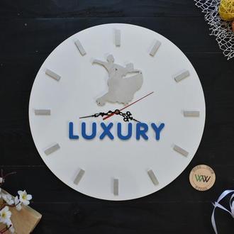 """Настенные часы с логотипом """"Танцы"""", в подарок хореографу, из дерева"""