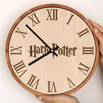 Деревянные часы с гравировкой, Гарри Поттер Harry Potter Hogwarts Хогвартс