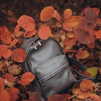 Стильный городской рюкзак М из натуральной кожи, кожаный женский рюкзак