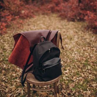 Рюкзак из натуральной кожи комбинированный с Cordura