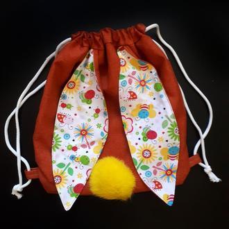 """Текстильная сумка-торба """"Кролик"""""""