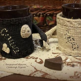 Грелка-чехол на чашку Мой свитерок