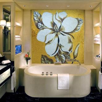 Мозаичное панно Коричневый цветок