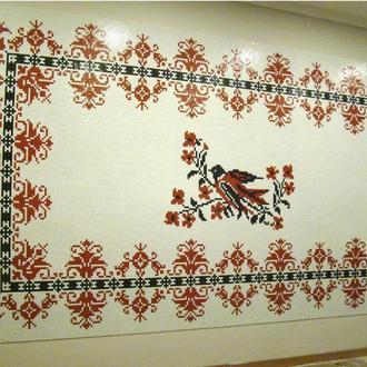Мозаичное панно Вышиванка для музыкальной школы