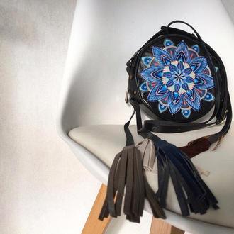 """Вечерняя кожаная сумочка  """"Mandala"""", Красивая сумка для вечеринки"""
