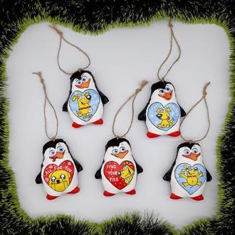 Набор елочных игрушек Пингвины из Мадагаскара