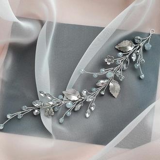 Свадебное украшение для волос, веточка в прическу, украшения в прическу, веточка в волосы