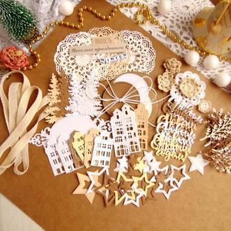 Набор для творчества новогодний - вырубка+вязалочки