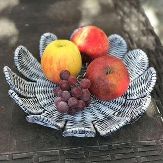 Декоративная тарелка-поднос