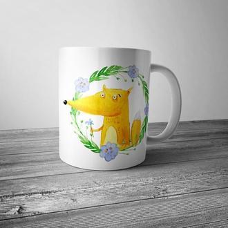 """Чашка с принтом """"Милая лиса"""""""
