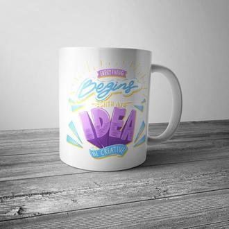 """Чашка с принтом """"Idea"""""""
