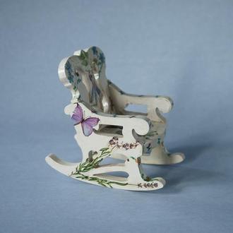 """Кресло-качалка для кукол в стиле """"Прованс"""""""