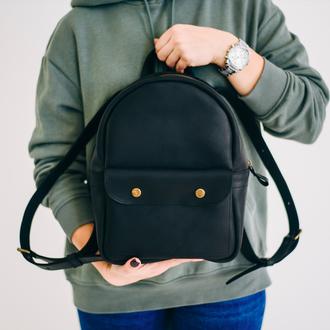 Мини рюкзак, рюкзак для девушки, маленький кожаный рюкзак, женский кожаный рюкзак