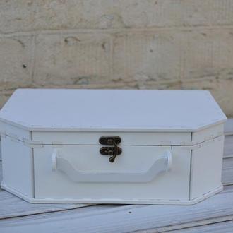 Деревянная подарочная упаковка, коробка, ящик, чемодан, саквояж для подарочных композиций