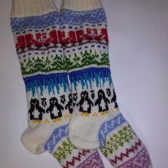 Новогодние носки с снежинками, оленями