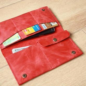 Женский бумажник кожаный (9 цветов), женский кожаный кошелёк, кошелёк для женщин, кожаный бумажник.