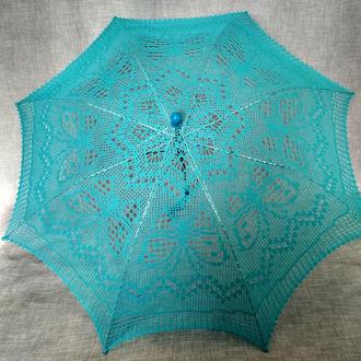 Кружевной зонтик с бабочками