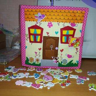 """Развивающая книжка """" Кукольный домик """""""