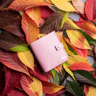 Ярко-розовый кошелек с монетницей из натуральной кожи Руби от мастерской Hidemont