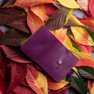 Фиолетовый кошелек с монетницей из натуральной кожи Руби от мастерской Hidemont