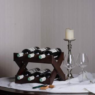 Подставка деревянная для хранения вина. Стеллаж для бутылок.