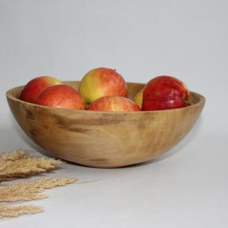 Велика фруктовниця, салатник з дерева