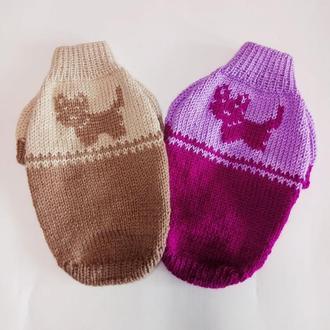 Двухцветный свитер для йорка, чихуахуа, тойтерьера