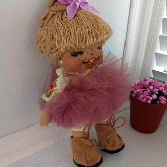 Кукла крошка с фиолетовым бантиком