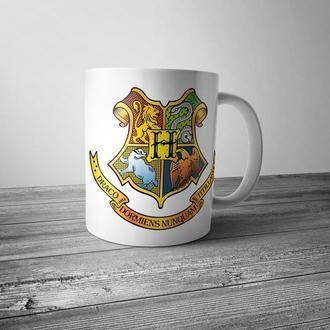 """Чашка с принтом """"Гарри Поттер. Герб Хогвартса"""""""