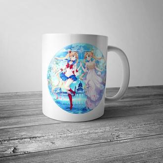 """Чашка с принтом """"Сейлор Мун"""""""