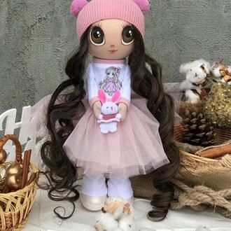 Интерьерная текстильная кукла Тильда