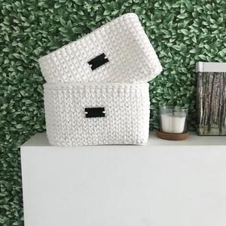 Вязаный короб для хранения вещей